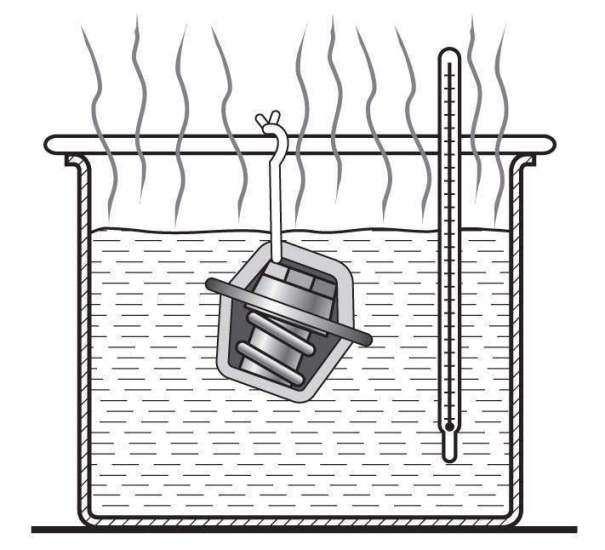 проверка термостата в горячей воде