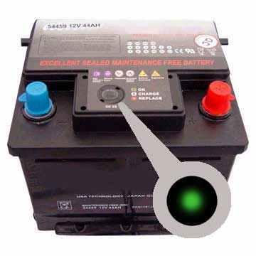зеленый цвет индикатора аккумулятора