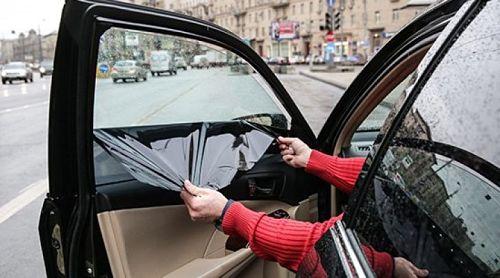 снятие тонировки с переднего бокового стекла