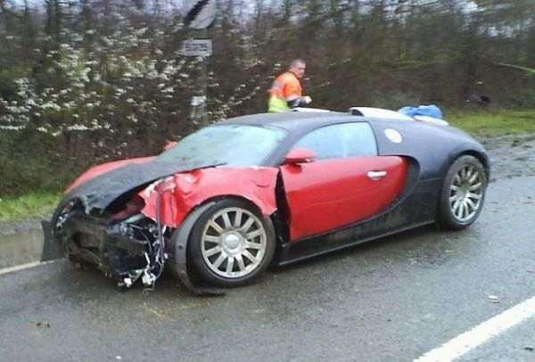 авария Bugatti Veyron