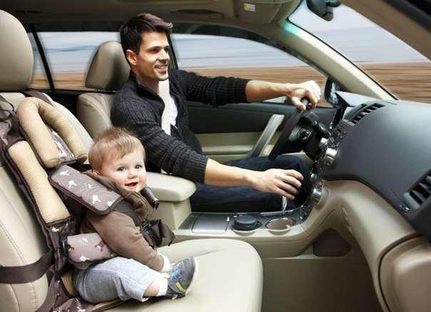 превозка детей на переднем сидение