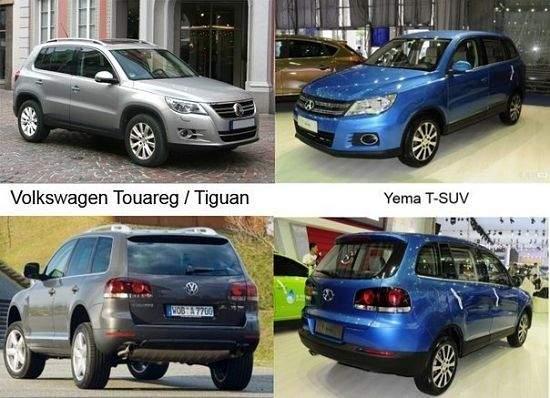 Китайские автомобили дешевые копии других марок