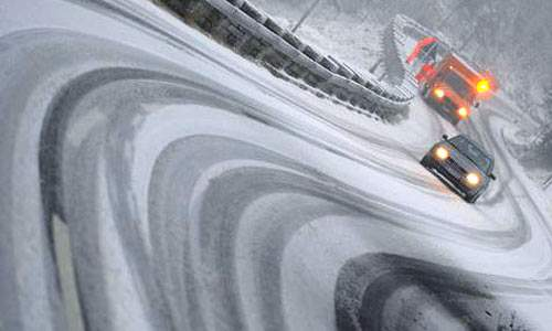 Прохождение поворотов зимой