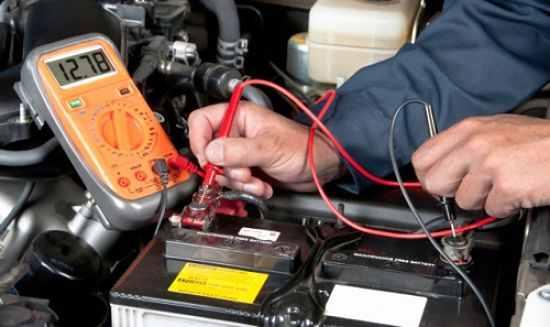 Проверка зарядки аккумулятора