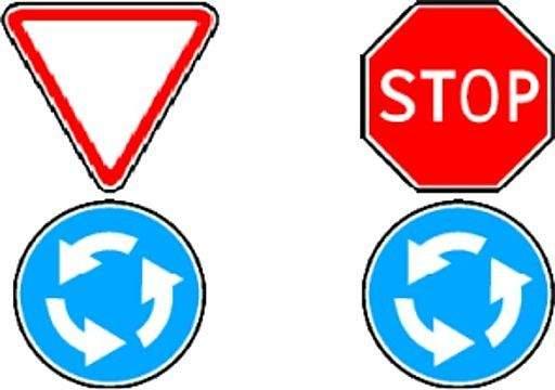 Куда нужно включать поворотники на перекрестке с круговым движением