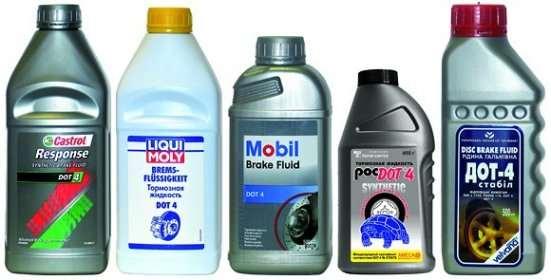 разнообразие тормозной жидкости