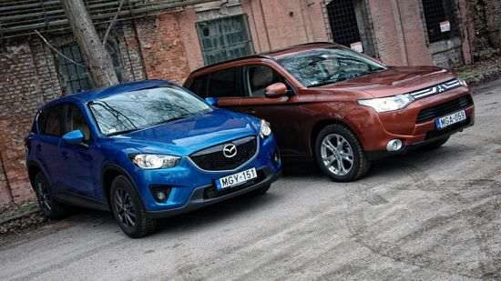 Mazda CX-5 и Mitsubishi Outlander