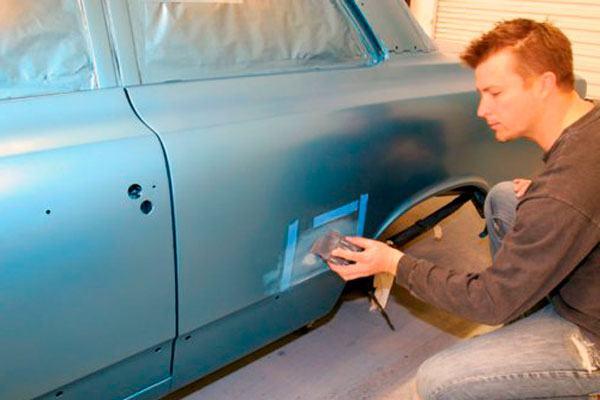Покраска автомобиля после антигравия своими руками 44