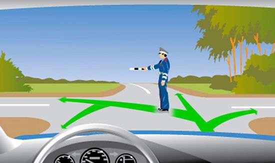 сигнал инспектора ГИБДД на перекрестке движение не ограничено