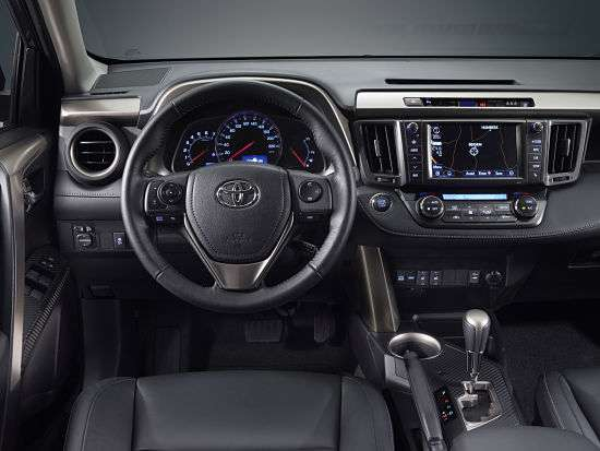 Внутренний интерьер Toyota Rav4