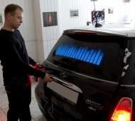 Световой эквалайзер на заднее стекло авто