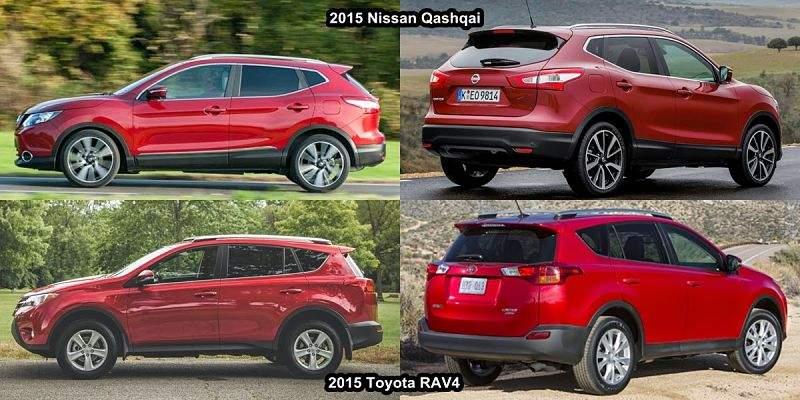 Toyota RAV4 и Nissan Qashqai