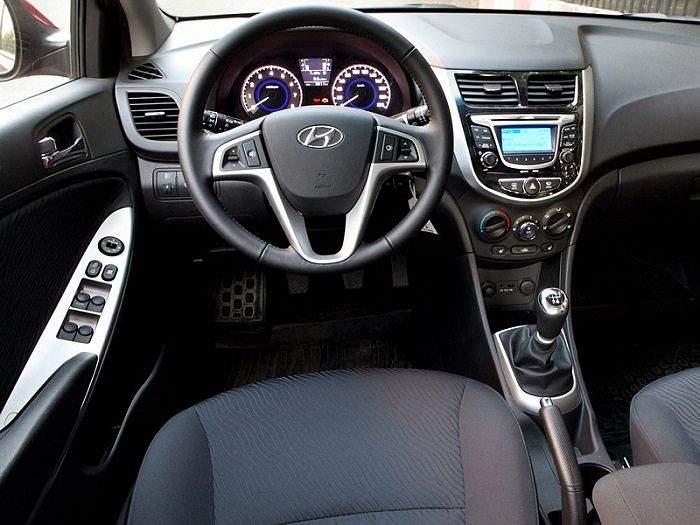 Hyundai Solaris 2015 интерьер