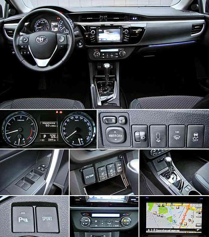 Toyota Corolla,ее интерьер