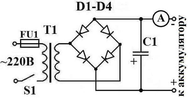 схема зарядного устройства для аккумулятора авто