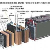 схема гелевого аккумулятора