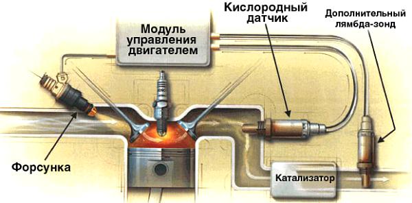 два кислородных датчика