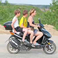 управление скутером и мопедом без прав