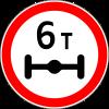 Знак Ограничение массы, приходящейся на ось транспортного средства