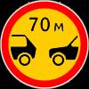 Знак Ограничение минимальной дистанции временный