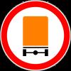Знак Движение транспортных средств с опасными грузами запрещено