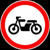 Знак Движение мотоциклов запрещено