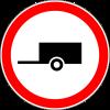 Знак Движение с прицепом запрещено