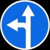 Знак Движение прямо или налево