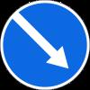 Знак Объезд препятствия справа