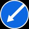 Знак Объезд препятствия слева