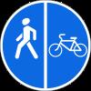Знак Пешеходная и велосипедная дорожка с разделением движения
