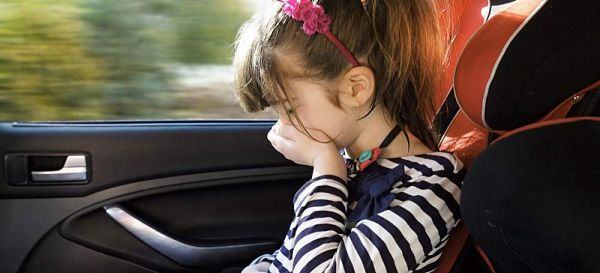 ребенка укачало в машине