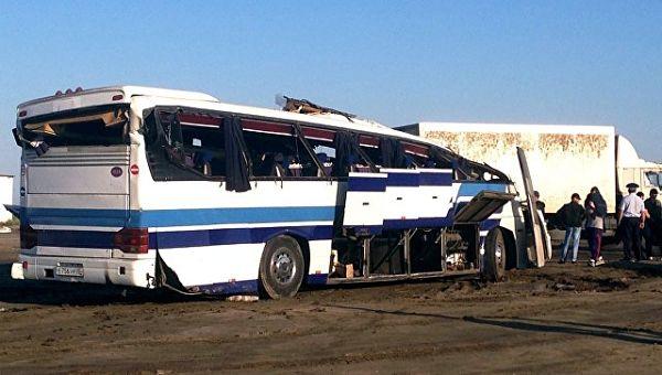 Столкновение пассажирского автобуса и грузового автомобиля в Дагестане