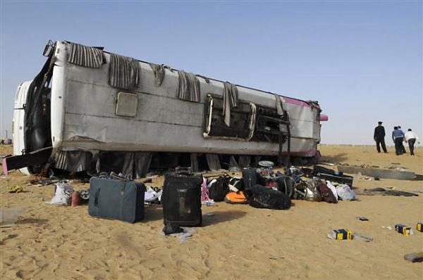 дтп в Египте с автобусом 2008