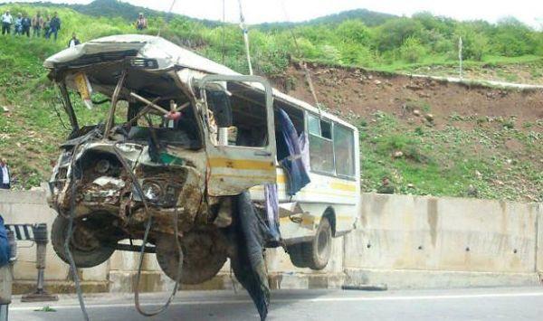 разбитый автобус авария цхинвал