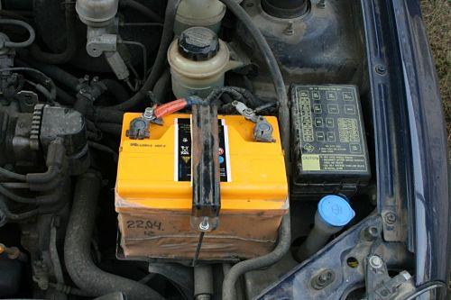 подключение клемм аккумулятора