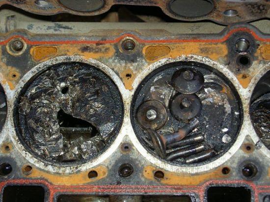 последствия обрыва ремня ГРМ на двигателе DOHC