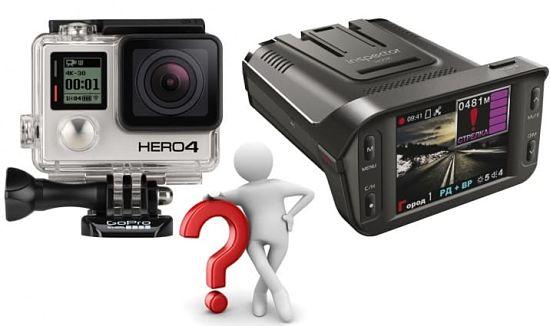 Экшн-камера с функцией видеорегистратора