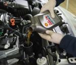 заливка в двигатель Shell Helix