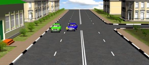 пропуск авто по правой полосе