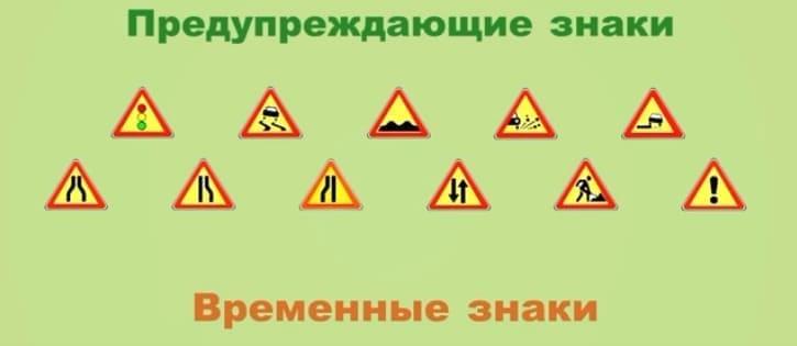 желтые предупреждающие знаки