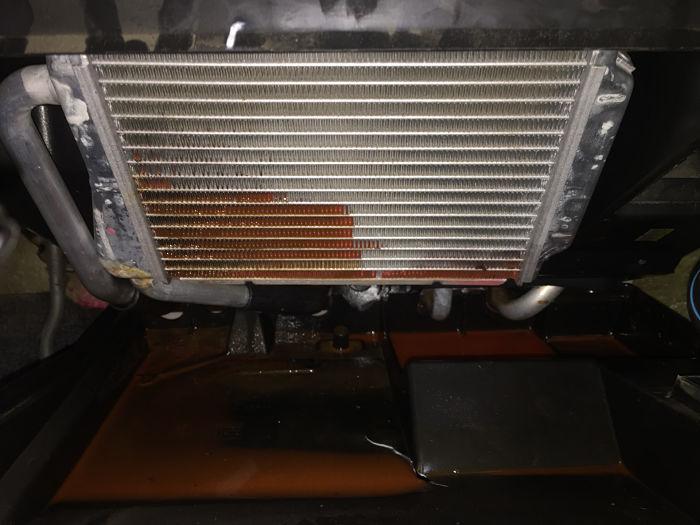 течь радиатора печки