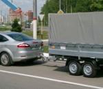 легковой автомобиль с прицепом