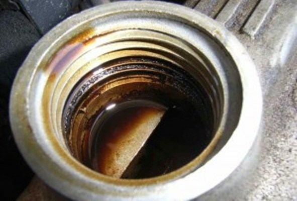 фильтр после прогрева двигателя