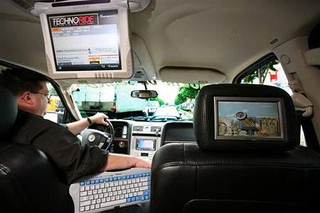 Установка телевизора в машину