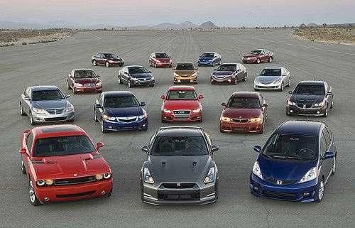 автомобили разных классов
