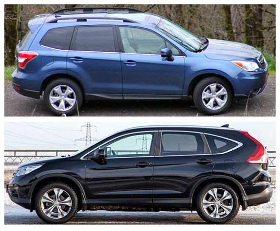 Honda CR-V и Subaru Forester