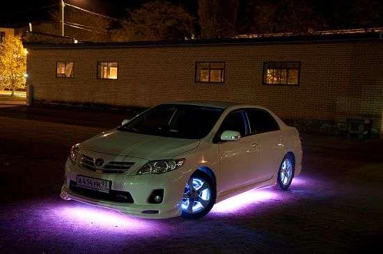 подсветка днища на машине
