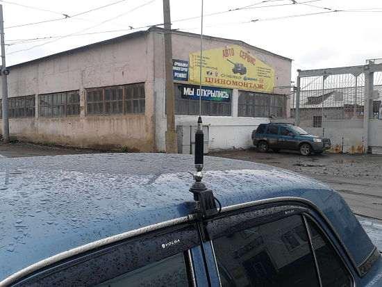 Установка автомобильной антенны в автомобиле