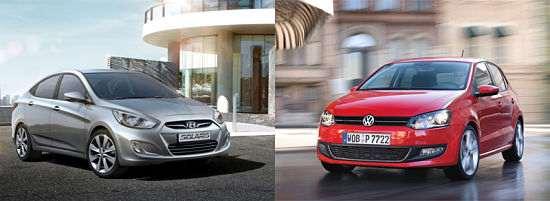 Hyundai Solaris и Volkswagen Polo